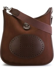 Hermes Vintage 'The Evelyne' Shoulder Bag Brown