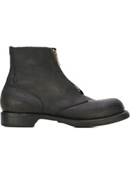 Guidi Front Zip Boots Black