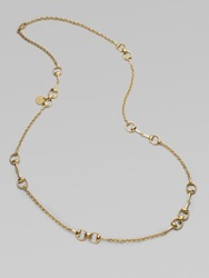 Gucci 18K Yellow Gold Horsebit Station Necklace