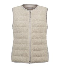 Fabiana Filippi Chain Trimmed Quilted Gilet Female Neutral