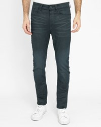 G Star Blue Type C 3D Super Slim Waxed Jeans