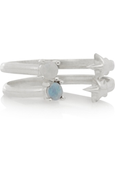 Pamela Love Star Age Set Of Two Silver Opal Rings