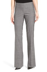 Boss Women's 'Tulea' Bootcut Melange Wool Suit Trousers Grey Melange