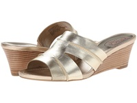 Circa Joan And David Shanna Light Gold Leather Women's Wedge Shoes