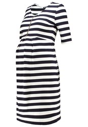 Isabella Oliver Baywood Jersey Dress Navy Off White Dark Blue