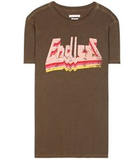 Etoile Isabel Marant Dewel Printed Cotton T Shirt Green
