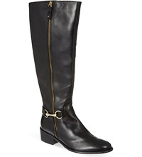 Carvela Waffle Knee High Boots Black