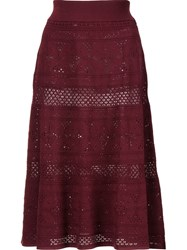 A.L.C. Crochet A Line Skirt Red