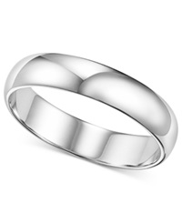 Macy's Platinum Ring 4Mm Wedding Band