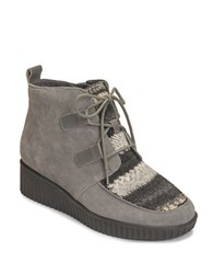 Aerosoles Umpire Suede Ankle Booties Grey