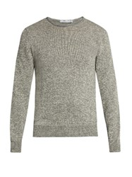 Inis Meain Rolled Edge Alpaca And Silk Blend Sweater Grey