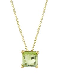 Ippolita 18K Rock Candy Mini Single Square Sliding Peridot Pendant Necklace Women's