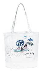 Kore Swim Canvas Tote Bag Cobalt White Jxk Print