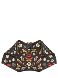Alexander Mcqueen Small Obsession Printed Silk Clutch