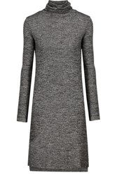 W118 By Walter Baker Felicity Stretch Knit Turtleneck Dress Dark Gray