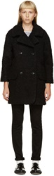 Ymc Black Wool Boucle Coat