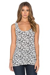 Equipment Kaylen Jungle Sport Tank Black And White