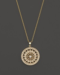 Bloomingdale's Diamond Medallion Pendant Necklace In 14K Yellow Gold .25 Ct. T.W.