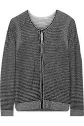 Maje Metallic Plated Knit Cardigan