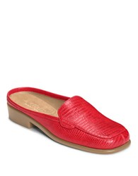 Aerosoles Duble Down Croc Printed Slides Light Red