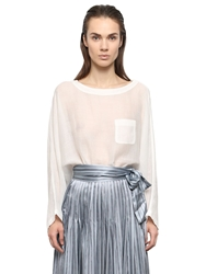 Jill Stuart Voile Top White