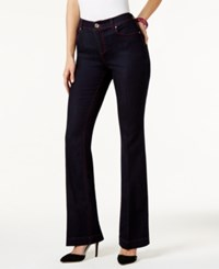 Inc International Concepts Contrast Stitch Flare Leg Jeans Only At Macy's Real Red Stitch