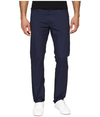 Calvin Klein Four Pocket Sateen Bowery Casual Pants Dress Blue Men's Casual Pants Navy