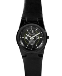 Unlisted Watch Men's Black Leather Strap Ul1094