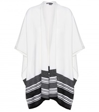 Vince Wool And Cashmere Blend Poncho White