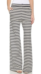 Harvey Faircloth Wide Leg Pants Navy Heather Stripe