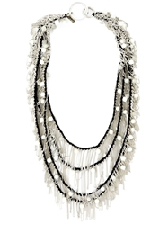 Goti Draped Chain And Bead Necklace
