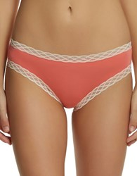 Felina Obsessed Lace Trimmed Hipster Coral Burst