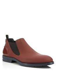 Ishu Low Rain Boots Maroon Black