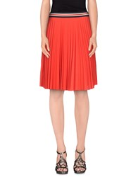 Theory Skirts Knee Length Skirts Women Red