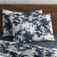 Cb2 Set Of 2 The Hill Side Palm Leaves Standard Shams