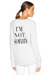 Pam And Gela V Neck Logo Sweater In Gray