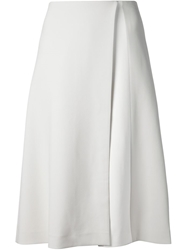 Narciso Rodriguez A Line Wrap Skirt Grey