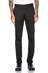 Lanvin Side Ribbon Chinos In Black