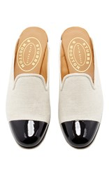 Stubbs And Wootton M'o Exclusive Chester Flax Mule White