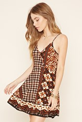 Forever 21 Abstract Floral Cami Dress