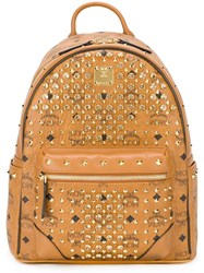 Mcm Studded Backpack Nude And Neutrals
