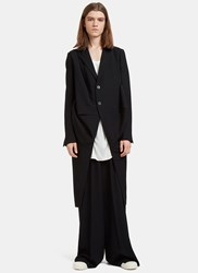 Rick Owens Orchid Single Breasted Draped Coat Black