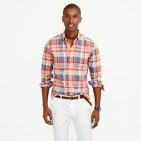 J.Crew Slim Indian Madras Shirt In Autumn Leaf
