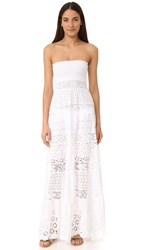 Temptation Positano Strapless Lace Dress White