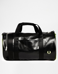 Fred Perry Soho Neon Barrel Bag With Perspex Black