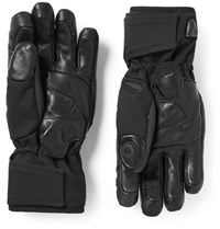 Kjus Bt 2.0 Bluetooth Leather Trimmed Twill Gloves Black