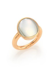 Vhernier Giotti Piccolo Mother Of Pearl And 18K Rose Gold Ring