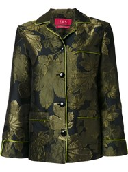 For Restless Sleepers Jacquard Blazer Green
