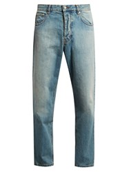 Ami Alexandre Mattiussi Mid Rise Carrot Fit Jeans Light Blue