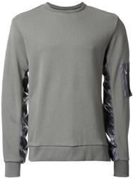 Tim Coppens Panelled Sleeve Sweatshirt Green